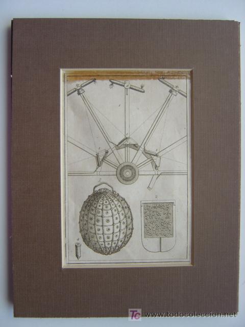 Arte: 7 PRECIOSOS GRABADOS DE PIROTECNIA - AÑOS 1780 - Foto 7 - 133089258