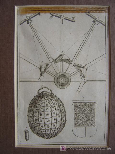 Arte: 7 PRECIOSOS GRABADOS DE PIROTECNIA - AÑOS 1780 - Foto 8 - 133089258
