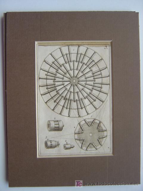 Arte: 7 PRECIOSOS GRABADOS DE PIROTECNIA - AÑOS 1780 - Foto 9 - 133089258