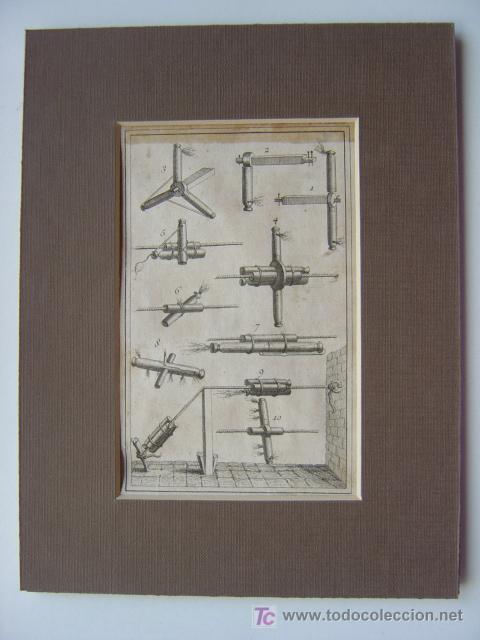Arte: 7 PRECIOSOS GRABADOS DE PIROTECNIA - AÑOS 1780 - Foto 11 - 133089258