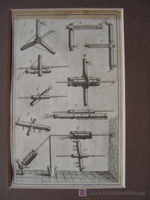 Arte: 7 PRECIOSOS GRABADOS DE PIROTECNIA - AÑOS 1780 - Foto 12 - 133089258