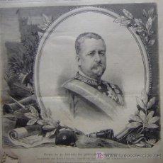 Arte: EXCMO. SR. D. JENARO DE QUESADA Y MATHEUS, MARQUES DE MIRAVALLES, CAPITAN GENERAL DEL EJERCITO.-. Lote 14624529