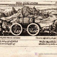 Arte: GRABADO DE ZAHARA DE LA SIERRA ( CADIZ ) MEISNER 1638, ( ORIGINAL, NO COPIA ). Lote 26465034