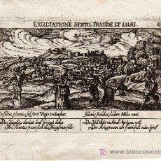 Arte: GRABADO DE LEBRIJA ( SEVILLA ), MEISNER 1638 ( ORIGINAL, NO COPIA ). Lote 27351415