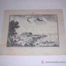 Arte: GRABADO DE ALGOIRE ( LLEIDA - LERIDA ) , IMP. BEAULIO , PARIS 1680 ( ORIGINAL, NO COPIA ). Lote 8198493