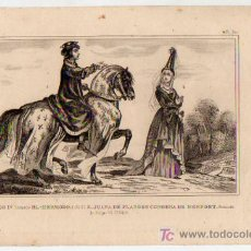 Arte: GRABADO. S. XIX. CARLOS IV 'EL HERMOSO'. JUANA DE FLANDES CONDESA DE MONFORT. 17 X 23 CM.. Lote 6054039
