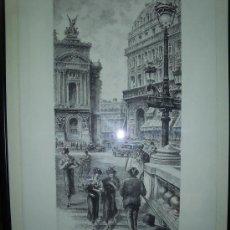 Arte: GRABADO: PLAZA DE LA ÓPERA, PARÍS / DALLEMAGNE, AIMÉ EDMOND ( 1882-1971). Lote 23636442