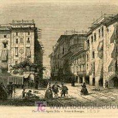 Arte: BARCELONA.- PLAZA DE SAN AGUSTIN BELLA.- AÑO 1857.. Lote 20029550