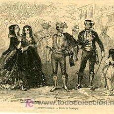 Arte: CATALUÑA.- VESTIMENTAS CATALANAS.- AÑO 1857. Lote 6474730