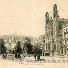 Arte: CÁDIZ.- ANTIGUO CONVENTO DE LOS CARMES.- AÑO 1868.. Lote 6536782