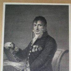 Arte: GRABADO HISTORICO POR G. ESTEVE DEL GENERAL PASTOR. CON LEYENDA.ENVÍO PAGADO.. Lote 27107604