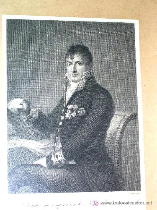 Arte: GRABADO HISTORICO POR G. ESTEVE del GENERAL PASTOR. CON LEYENDA.ENVÍO PAGADO. - Foto 4 - 27107604