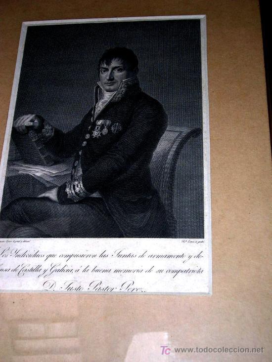 Arte: GRABADO HISTORICO POR G. ESTEVE del GENERAL PASTOR. CON LEYENDA.ENVÍO PAGADO. - Foto 5 - 27107604