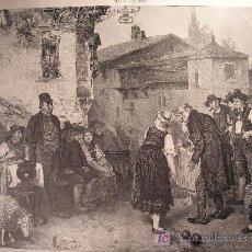Arte: GRABADO ANTIGUO. S.XIX. ILUSTRACION ARTISTICA . EMPEÑO DE HONRA. Lote 26631507