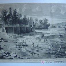Arte: ADEMUZ - TRANSPORTE DE MDERA POR EL RIO BLANCO HASTA EL PUEBLO DE MISLATA. Lote 16451138