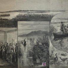 Arte: LAGUNAS DE DAIMIEL,PUESTO DE TORTOSA,VISITA REAL,CIUDAD REAL. Lote 13216848