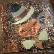 Arte: ANTIGUO PAYASITO GRABADO EN COBRE Y PINTADO-ORIGEN CHILE .. Lote 26504843