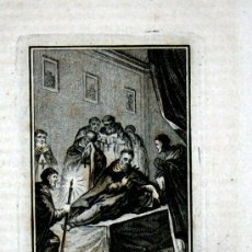 Arte: B.MIGUEL DE LOS SANTOS,GRABADO AL ACERO DE 1845.9X6 DE HUELLA IMPRESA.. Lote 25379520