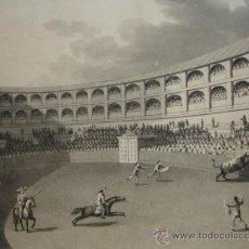 Arte: LA TAUROMAQUIA DE EDWARD ORME, 13 GRABADOS INGLESES,ORIGINALES,1813,COMPLETO,TOROS. Lote 26875130