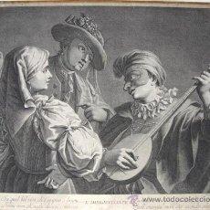 Arte: MAGGIOTO, FRANCESCO, CAVALLI, NICOLAUS- GRABADO L' IMPROVVISANTE, CIRCA 1780. Lote 27491192