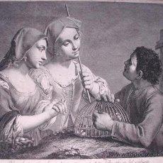 Arte: MARINETTI, IL CHIOZZOTTO- NICOLAUS CAVALLI: MERCATO DI POLLI, GRABADO DE CIRCA 1780. Lote 27092847
