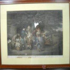 Arte: GRABADO COLOREADO INGLES-S.19. Lote 26294118