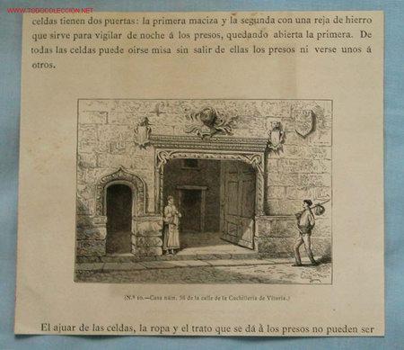 GRABADO VITORIA. SIGLO XIX (Arte - Grabados - Modernos siglo XIX)