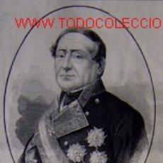 Arte: EXCMO. SEÑOR D. JUAN JOSE MARTINEZ Y ESPINOSA. ALMIRANTE DE LA ARMADA.-. Lote 11384826