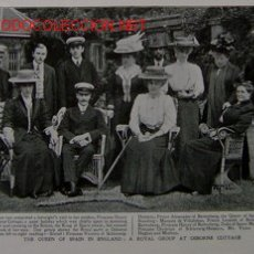 Arte: THE QUEEN OF SPAIN IN ENGLAND: A ROYAL GROUP AT OSBORNE COTTAGE.-. Lote 22447466
