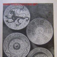 Arte: PLATOS HISPANO ARABES QUE SE CONSERVAN EL EL MUSEO ARQUEOLOGICO NACIONAL.-. Lote 21098935