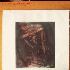 Arte: EXCEPCIONAL GRABADO DE EBERHARD SCHLOTTER PARA LA EDICIÓN DEL QUIJOTE DE 1982 DE EDICIONES REMBRANDT. Lote 27001127