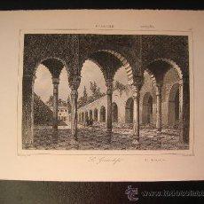 Arte: GRABADO DE GRANADA. EL GENERALIFE, CA. 1850. Lote 27608742