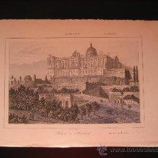 Arte: GRABADO DE MADRID. PALACIO DE ORIENTE, CA. 1850. Lote 27608739