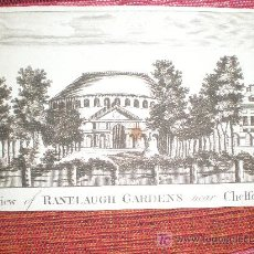Arte: VIEW OF RANELAUGH GARDENS NEAR CHELSEA (AÑO 1784 APROX). Lote 13702475