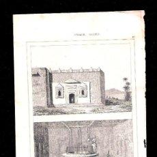Arte: GRABADO S. XIX * ARABIA * : POZOS ZEMZEN. Lote 17772466
