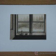 Arte: CÉSAR LUENGO (MADRID, 1948). GRABADO EN PLANCHAS DE ZINC, TRES TINTAS, 14 X 19. TÉCNICA: AGUAFUERTE . Lote 26050649