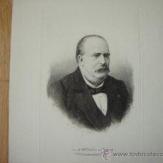 Arte: GRABADO ORIGINAL (1881) DE BARTOLOMÉ MAURA (PALMA DE MALLORCA). MEDIDA DE LA HUELLA: 22 X 14.. Lote 26922551