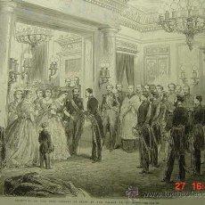Arte: 5701 PRECIOSO GRABADO ISABEL II Y FRANCISCO DE ASIS AÑO 1864 MAS EN MI TIENDA C&C. Lote 27296432