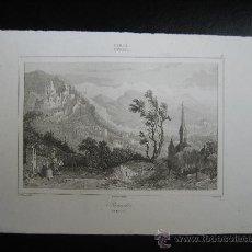 Arte: GRABADO DE AUSTRIA. TIROL, CA. 1850. Lote 27515399