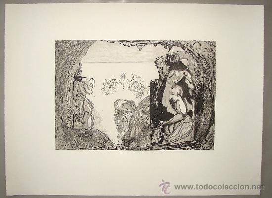 JORGE CASTILLO - PONTEVEDRA - HOMAGE A MIGUELANGELO - 1975 (Arte - Grabados - Contemporáneos siglo XX)