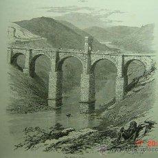 Arte: 6152 PUENTE ALCANTARA (CACERES)PRECIOSO GRABADO INGLES 1880 MAS EN MI TIENDA COSAS&CURIOSAS. Lote 27104030