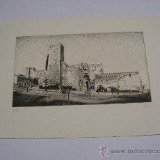 Arte: GRABADO AL AGUAFUERTE . CARMONA ( SEVILLA ) . ALCÁZAR Y PUERTA DE SEVILLA . 38 X 28 CMS. Lote 26550589