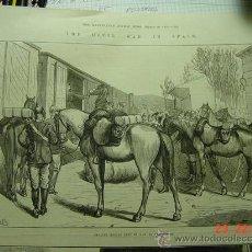 Arte: 8253 GUERRA CARLISTA CERCANIAS TAFALLA GRABADO CIRCA AÑO 1875 COSAS&CURIOSAS. Lote 13033701