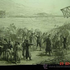 Arte: 8255 GUERRA CARLISTA CASTEJON PUENTE TAFALLA MADRID GRABADO CIRCA AÑO 1875 COSAS&CURIOSAS. Lote 27104029