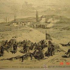 Arte: 8384 BILBAO GUERRA CIVIL PRECIOSO GRABADO - AÑOS 1868 - MILITARIA - MAS EN MI TIENDA. Lote 13088619