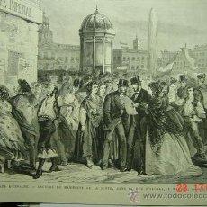 Arte: 9096 MADRID ALCALA 1ª REPUBLICA REVOLUCION GRABADO AÑOS 1869 MAS EN MI TIENDA C&C. Lote 13457426