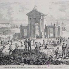 Arte: GRABADO: GUERRA CARLISTA. PUERTA SAN VICENTE, MADRID. PRIMERA REPUBLICA. 1873. Lote 24165714