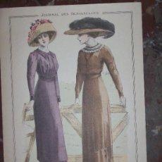 Arte: GRABADO MODA JOURNAL DES DEMOISELLES ABRIL 1910 .DIRECTOR ALAIN THIERY,IMP.FATTORINI&CRESPIN. Lote 26288992