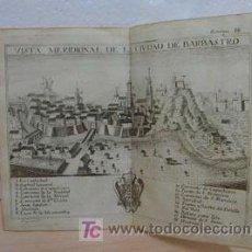 Arte: BARBASTRO, HUESCA, ANTIGUO GRABADO, AÑO 1772,GARANTIZO FECHA Y AUTENTICIDAD. 15 X 18 CM. Lote 27289556
