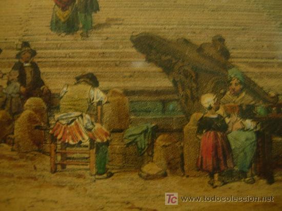 Arte: GRABADO CON MARCO DORADO ORIGINAL. ETATS ROMAINS - Foto 6 - 26902898